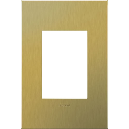 Brushed Brass Cast Metal 3-Module Wall Plate