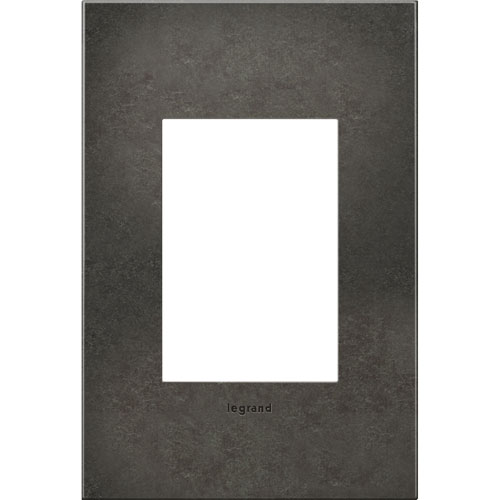 Dark Burnished Pewter Cast Metal 3-Module Wall Plate