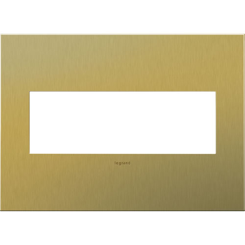 Brushed Brass Cast Metal 3-Gang Wall Plate