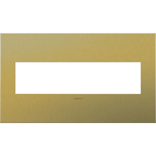 Brushed Brass Cast Metal 4-Gang Wall Plate