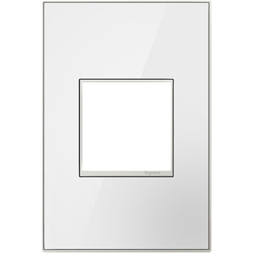 White on White Mirror 1-Gang Wall Plate