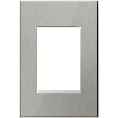 Brushed Stainless Real Materials 3-Module Wall Plate