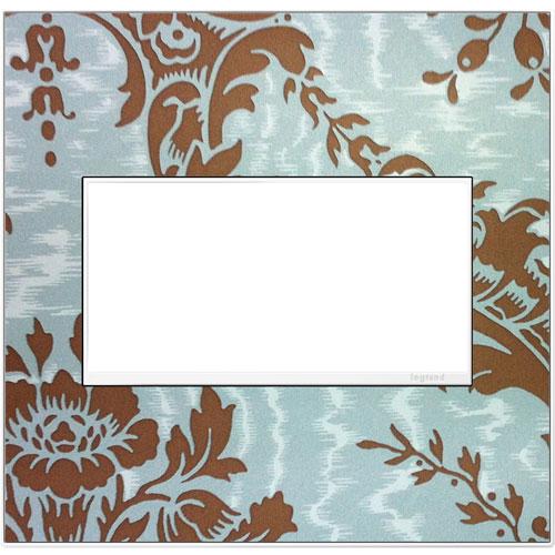 Custom 2-Gang Wall Plate with White Trim
