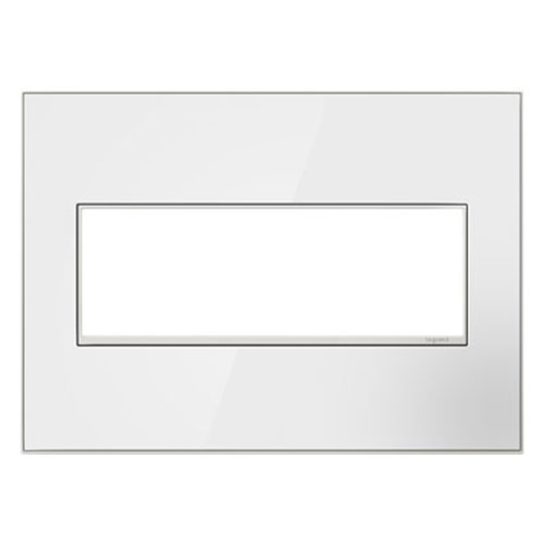White on White Mirror 3-Gang Wall Plate