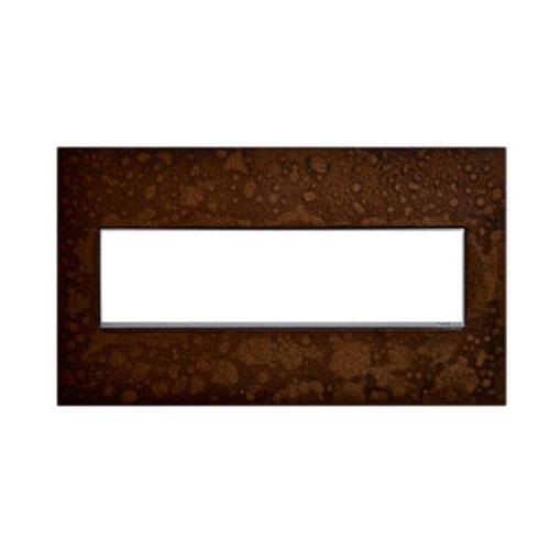 Hubbardton Forge Bronze 4-Gang Wall Plate