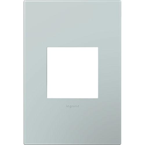 Pale Blue Plastics 1-Gang Wall Plate