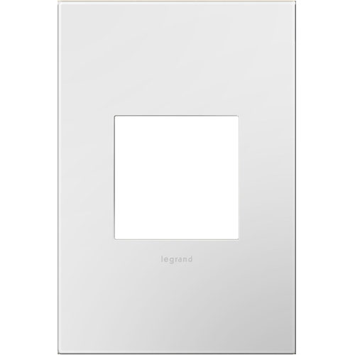 White on White Plastics 1-Gang Wall Plate