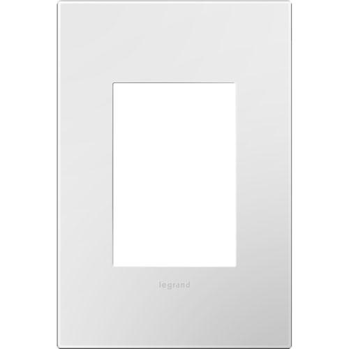 White Plastics 3-Module Wall Plate