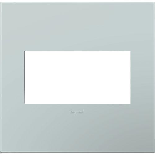 Pale Blue Plastics 2-Gang Wall Plate