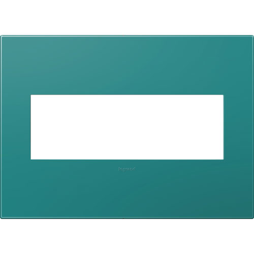 Turquoise Plastics Blue 3-Gang Wall Plate