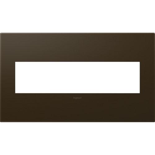 Bronze Plastics 4-Gang Wall Plate