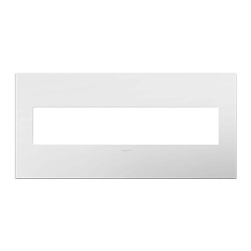 White on White Plastics 5-Gang Wall Plate