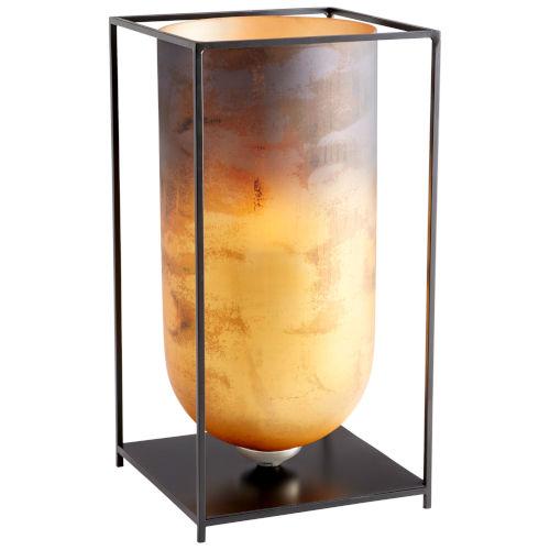 Bronze Copper Vibrant Basin Candleholder