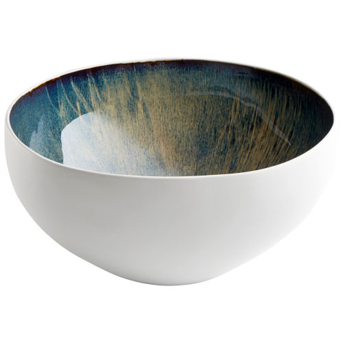 White and Oyster 15-Inch Bowl