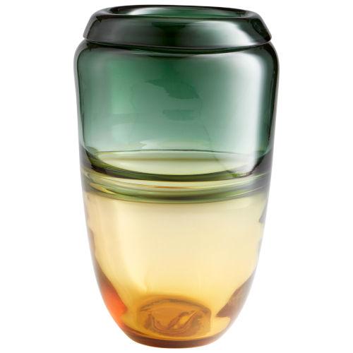 Amber and Green Large Callisto Vase