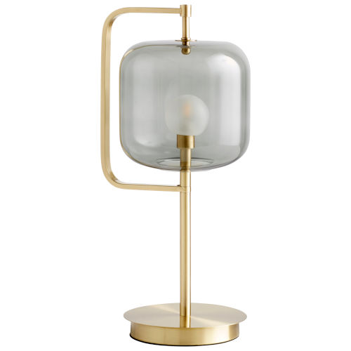 Aged Brass Isotope Table Lamp