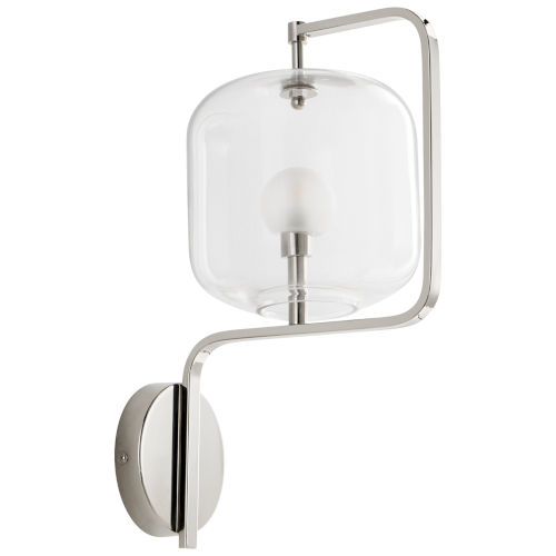 Polished Nickel One-Light Isotope Wall Sconce