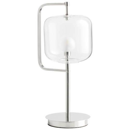 Polished Nickel Isotope Table Lamp