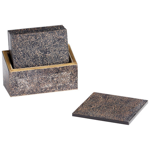 Brown and Bronze Arless Coasters, 7 Piece