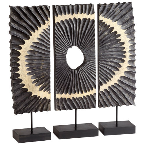 Black 24-Inch Ruffle Sculpture, 3 Piece