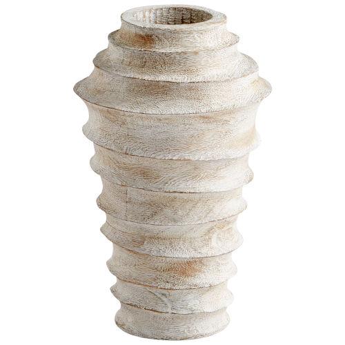 Whitewashed 10-Inch Giorgio Vase