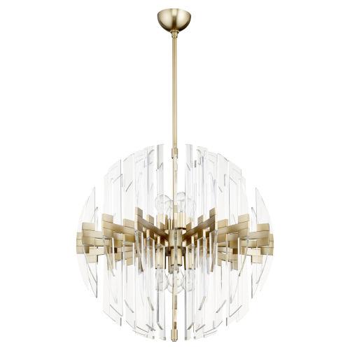 Zion Aged Brass Eight-Light Zion 27-Inch Sphere
