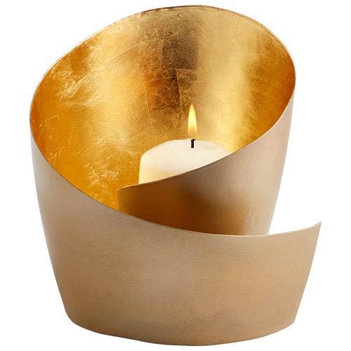 Mars Brass Candleholder