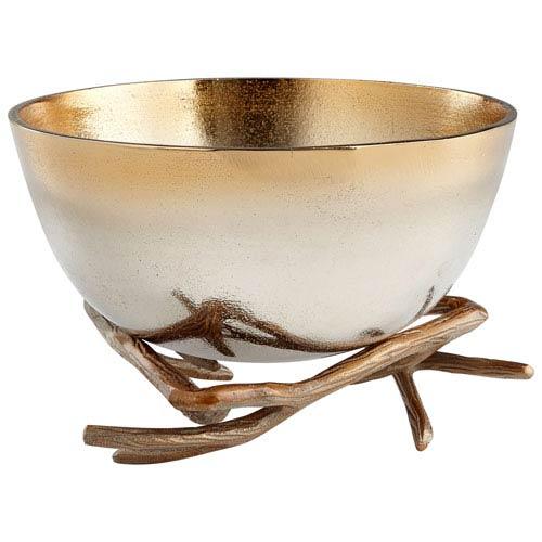 Gold Large Antler Anchored Bowl