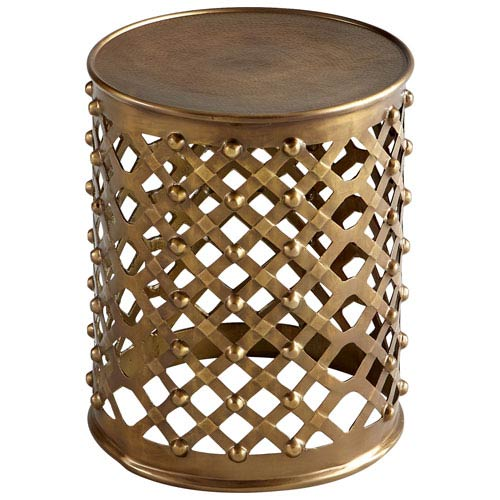 Cyan Design Alden Brushed Brass Side Table Bellacor - Brushed brass side table