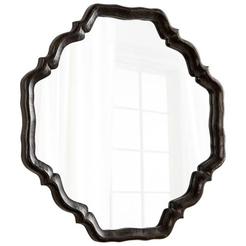 Antique Brown Outline Mirror