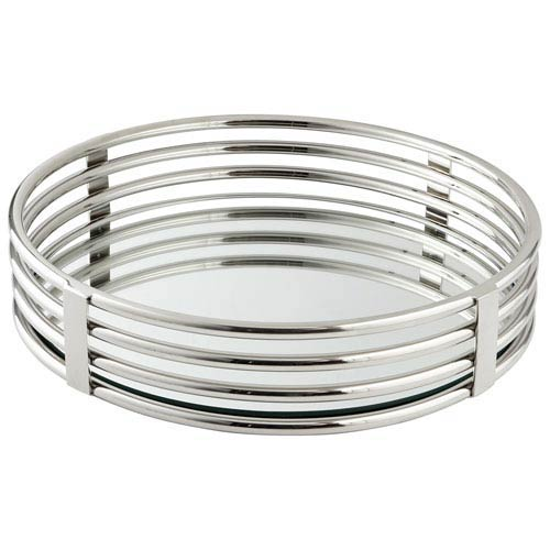Stainless Steel Round Layers of Meaning Tray