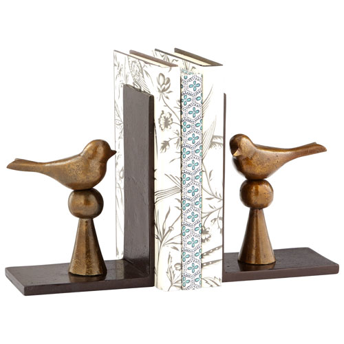 Antique Brass and Bookends