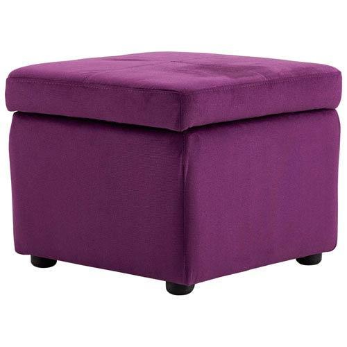 Purple Huffington Ottoman