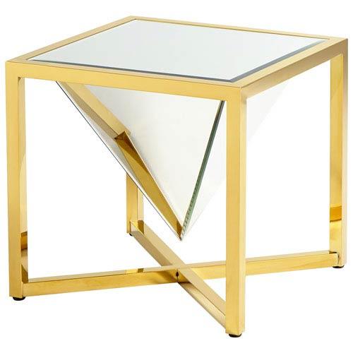 Titan Brass Side Table