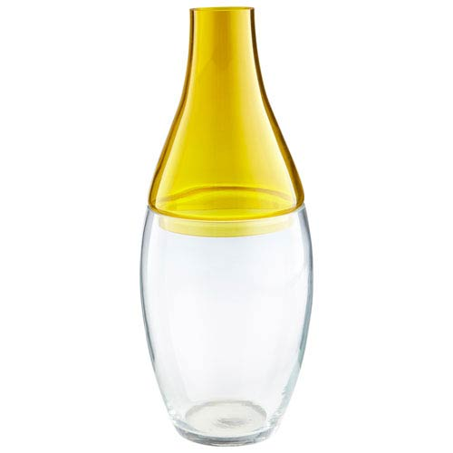 Cyan Design Yellow and Clear Mellow Yellow Vase
