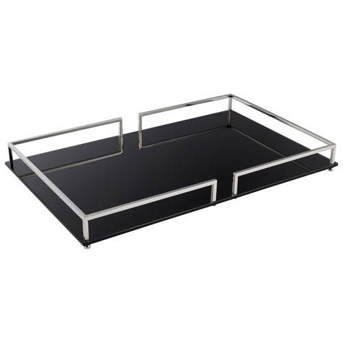Nickel Small Contempo Noir Tray
