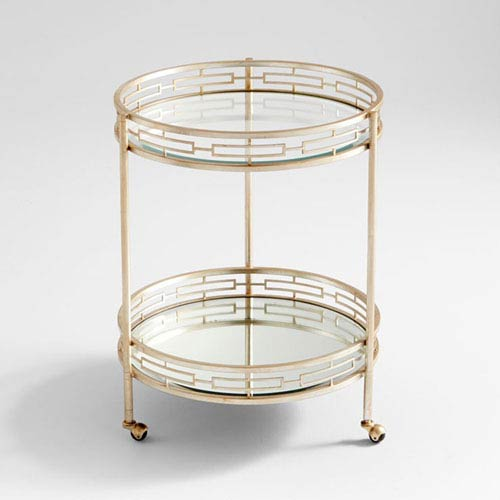 Gilded Meridian Bar Cart