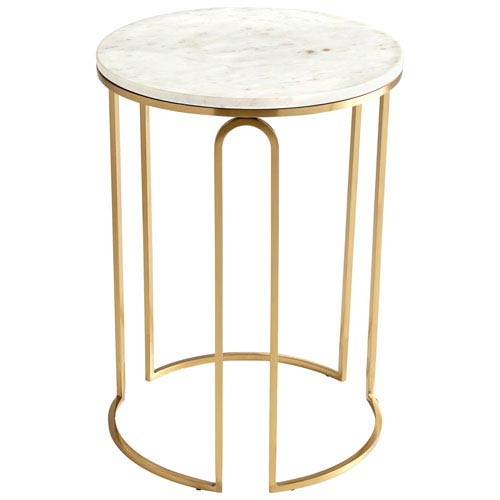 Cyan Design Metallic Tower Antique Brass Side Table Bellacor - Brushed brass side table