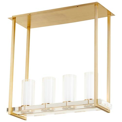 Orion Four-Light Aged Brass Ceiling Mount