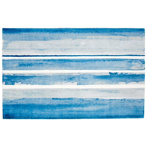 Azure Watercolor Rectangular: 5 x 8 Ft. Rug