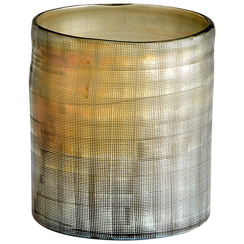 Gilded Grid Vase