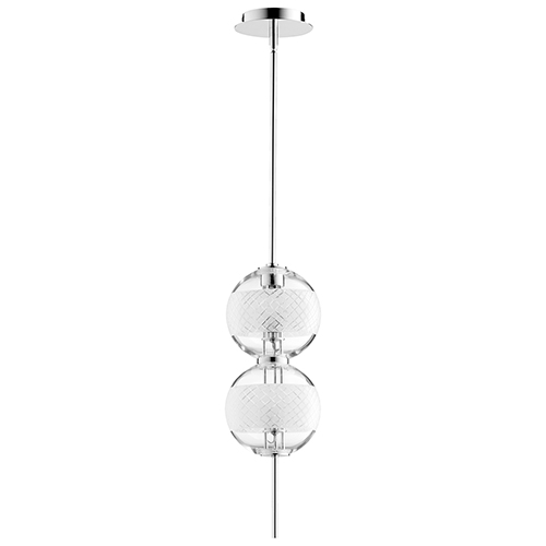 Cyan Design Peloton Polished Nickel Two-Light LED Mini Pendant