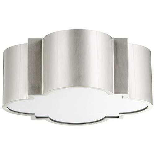 Cyan Design Wyatt Satin Nickel Two-Light Flush Mount
