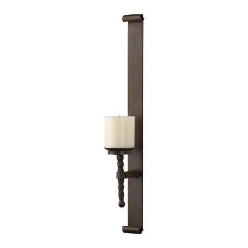 Natural Rust Post Wall Candleholder