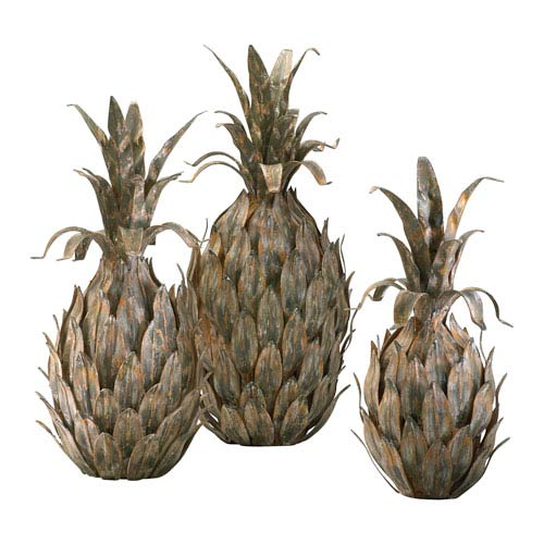Multicolor Pineapple, Set of Three