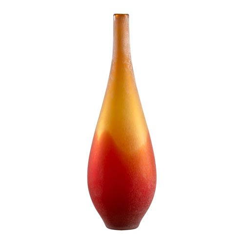 Cyan Design Yellow And Orange Frosted Large Vizio Vase 01666 Bellacor