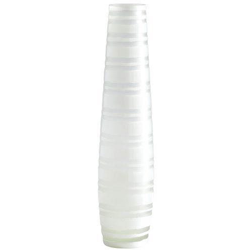 Matte White Large Stripe Vase