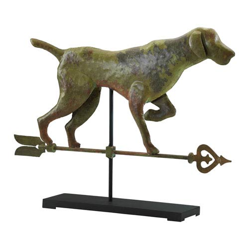 Verde and Rust Dog On Stand