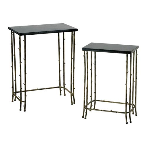 Cyan Design Distressed Bamboo Nesting Tables