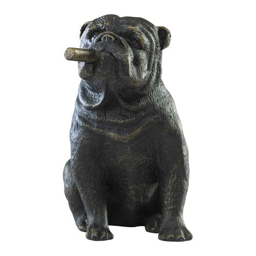 Old World Mini Bulldog Sculpture